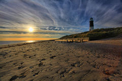 Lighthouse at Spurn Point Stock Image