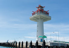 Lighthouse at Srichang island. Thailand Royalty Free Stock Photo