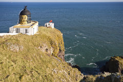 Lighthouse at St Abbs Head. Royalty Free Stock Images