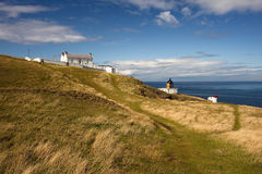 Lighthouse St. Abbs, Scotland, UK Royalty Free Stock Images