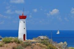 Lighthouse in St. Marten Stock Photos