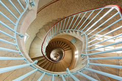 Lighthouse staircase royalty free stock photos