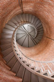 Lighthouse Staircase. A winding spiral staircase inside of a light house Royalty Free Stock Photography