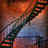 Lighthouse stairs. Spiral stairs inside lighthouse in Corolla North Carolina Stock Image