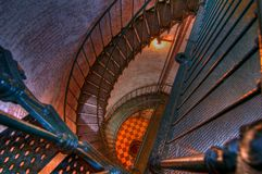 Lighthouse stairs Stock Photo