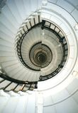 Lighthouse stairwell. Looking up Royalty Free Stock Photo