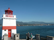 Lighthouse in Stanley Park, Vancouver, Canada Stock Photo