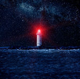 Lighthouse and The Stars Stock Photo
