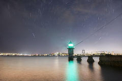 Lighthouse Stars night Royalty Free Stock Images