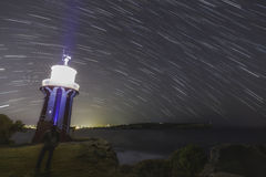 Lighthouse Stars night Royalty Free Stock Photography