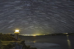 Lighthouse Stars night Royalty Free Stock Image