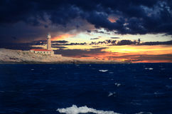 Lighthouse Stoncica on island Vis, Croatia Royalty Free Stock Images