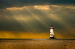 Lighthouse and storm royalty free stock photo
