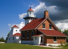 Lighthouse and Storm Stock Images