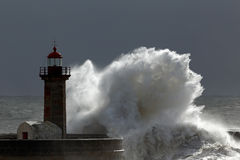 Lighthouse storm Royalty Free Stock Image