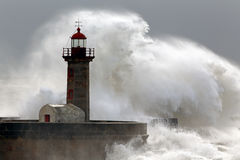 Lighthouse storm Royalty Free Stock Photos