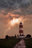 Lighthouse in a storm Royalty Free Stock Photography