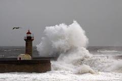 Lighthouse storm Stock Photos