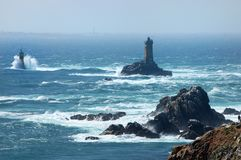 LIGHTHOUSE, BRITTANY, FRANCE Royalty Free Stock Image