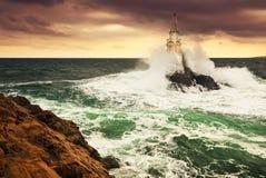 Lighthouse storm Royalty Free Stock Photos