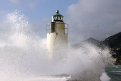 Lighthouse in the storm Royalty Free Stock Photography