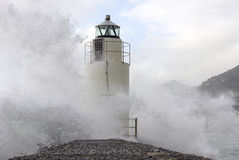 Lighthouse in the storm Royalty Free Stock Image