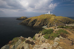 Lighthouse at Strumble Head Royalty Free Stock Images