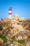 Lighthouse on sunlight Royalty Free Stock Image