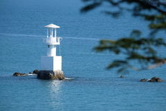 Lighthouse on a sunny day. Royalty Free Stock Images
