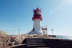 Lighthouse at sunny day Stock Photos