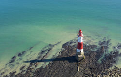 Lighthouse on a sunny day in Seven Sisters Stock Image