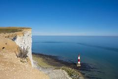 Lighthouse on a sunny day in Seven Sisters Royalty Free Stock Image