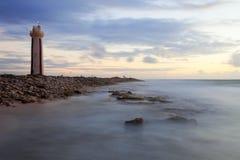 Lighthouse at Sunrise. High Dynamic Range (HDR) image of lighthouse at sunrise, Bonaire Royalty Free Stock Images