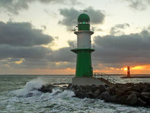 Lighthouse at sunrise Stock Image