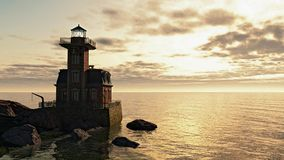 Lighthouse at Sunrise Royalty Free Stock Photos