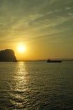 Lighthouse in sunrise. Gibraltar Europa point lighthouse in sunrise Royalty Free Stock Photos