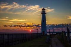 Lighthouse Sunrise Stock Photo