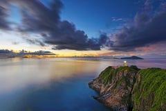 Lighthouse during sunrise Royalty Free Stock Image