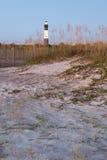 Lighthouse at sunrise. Tybee island, USA Stock Images