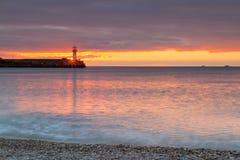 Lighthouse on sunrise Royalty Free Stock Images