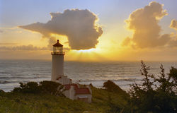 Lighthouse at sunset 2 Royalty Free Stock Photography