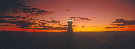 Lighthouse at Sunset. Peggy's Cove, Nova Scotia stock photography
