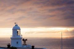Lighthouse Sunset Stock Photography