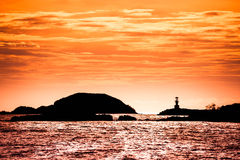 Lighthouse on sunset Royalty Free Stock Images