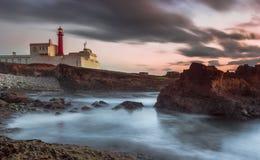 Lighthouse sunset Royalty Free Stock Photos