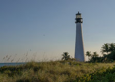 Lighthouse during sunset on key biscayne, Miami Florida Stock Photo