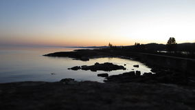 Lighthouse at Sunset stock footage