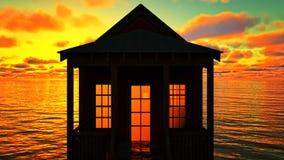 Lighthouse at sunset Stock Image