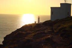Lighthouse at sunset 1 Royalty Free Stock Photo