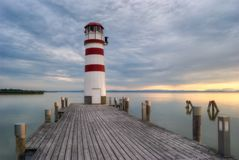 Lighthouse at Sunset Royalty Free Stock Photography